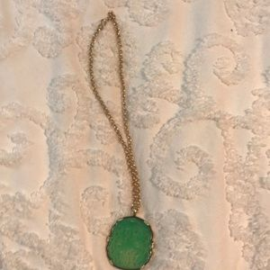Kenneth Lane Carved Jade pendant necklace